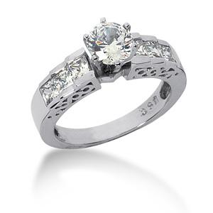 3 CT TW Moissanite Engagement Ring