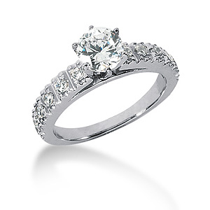 1.86 CT TW Moissanite Engagement Ring
