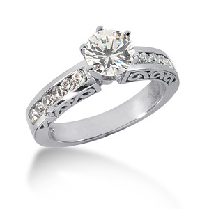 2.86 CT TW Moissanite Engagement Ring