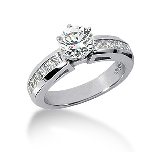 2.20 CT TW Moissanite Engagement Ring