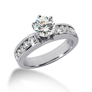 2.5 CT TW Moissanite Engagement Ring