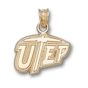 UTEP Miners 7/16in 10k Pendant