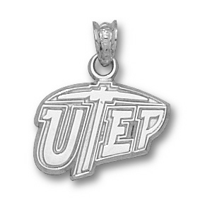 UTEP Miners 7/16in Sterling Silver Pendant