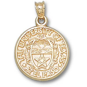 14kt Yellow Gold 5/8in UTEP Seal Charm