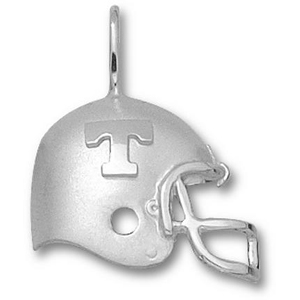 Sterling Silver 3/4in Tennessee T Football Helmet Pendant