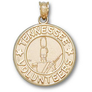 14kt Yellow Gold 11/16in Tennessee Volunteers Seal Pendant