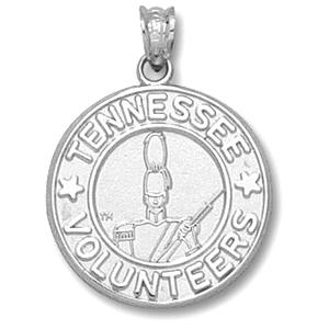 Sterling Silver 11/16in Tennessee Volunteers Seal Pendant