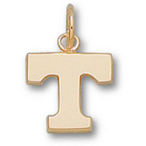 10kt Yellow Gold 3/8in University of Tennessee T Pendant