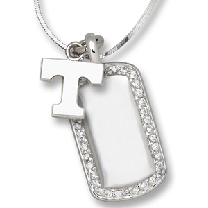 Sterling Silver University of Tennessee Mini Dog Tag Necklace