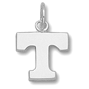 Sterling Silver 3/8in University of Tennessee T Pendant