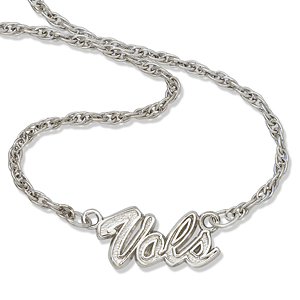 Sterling Silver Vols 18in Script Necklace