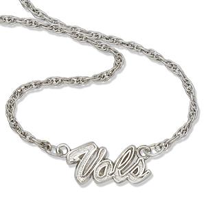Sterling Silver Vols 18in Script Necklace