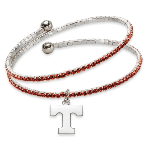 University of Tennessee Amped Logo Crystal Bracelet