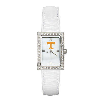 University of Tennessee Ladies Allure White Leather Watch