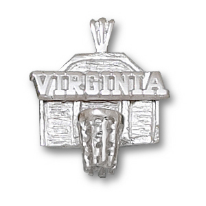 University of Virginia 5/8in Sterling Silver Backboard Pendant