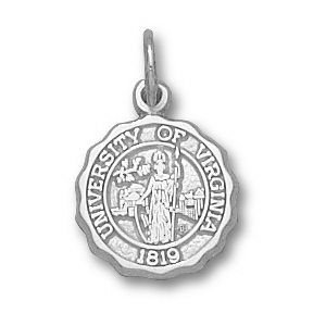 Sterling Silver 1/2in University of Virginia Seal Charm