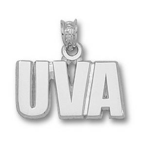 University of Virginia 3/8in Sterling Silver UVA Pendant