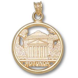 10kt Yellow Gold 5/8in University of Virginia Rotunda Pendant