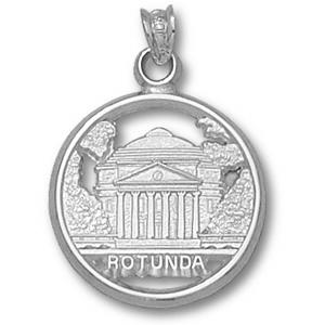 Sterling Silver 5/8in University of Virginia Rotunda Pendant