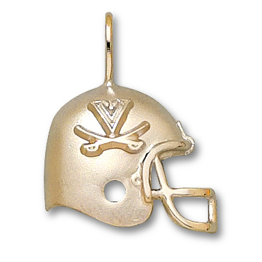 University of Virginia 3/4in 10k Helmet Pendant