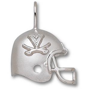 University of Virginia 3/4in Sterling Silver Helmet Pendant