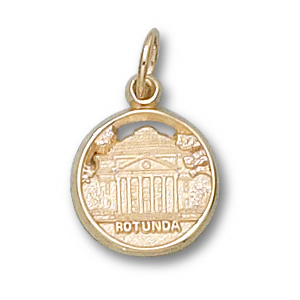 14kt Yellow Gold 1/2in University of Virginia Rotunda Pendant