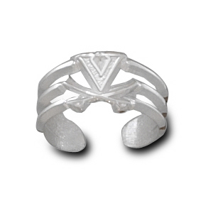 University of Virginia Sterling Silver Toe Ring