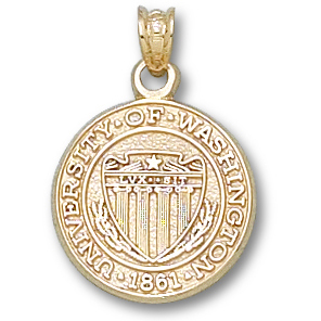 10kt Yellow Gold 5/8in University of Washington Seal Pendant