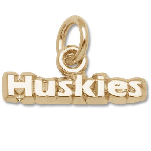 U of W Huskies 1/8in Pendant 14kt Yellow Gold