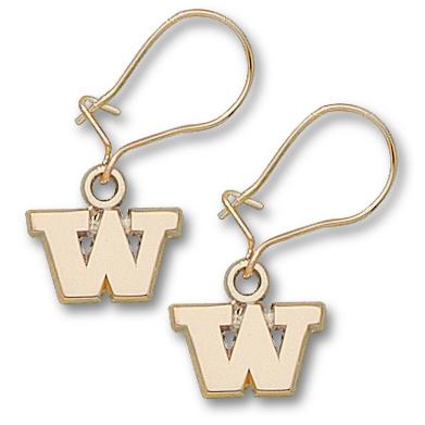 U of W 1/4in Earrings 10kt Yellow Gold