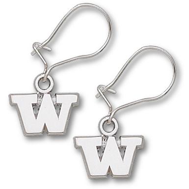 Univ of Washington 1/4in Earrings Sterling Silver