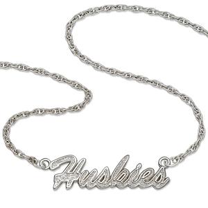 Washington Huskies 18in Sterling Silver Script Necklace