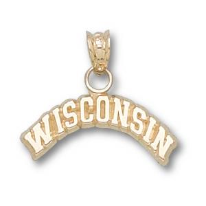 Wisconsin Badgers 1/4in 14k Pendant