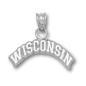 Wisconsin Badgers 1/4in Sterling Silver Pendant