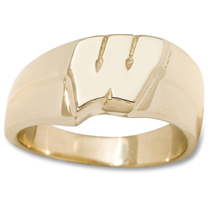 Wisconsin Badgers 3/8in Ladies Ring - 10kt Gold