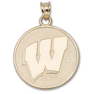 Wisconsin Badgers 3/4in 14k Motion Charm