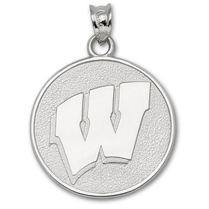 Wisconsin Badgers 3/4in Sterling Silver Motion Charm