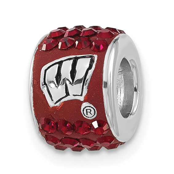 University of Wisconsin Premier Crystal Bead