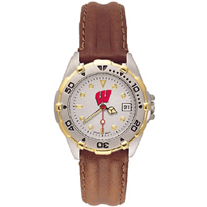 University of Wisconsin Ladies' All Star Leather Watch