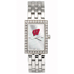 University of Wisconsin Starlette Stainless Steel Watch
