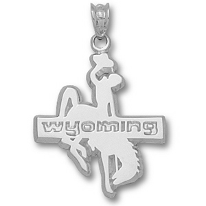 Sterling Silver 7/8in Wyoming Cowboys Pendant