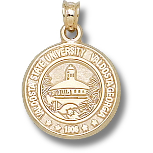 Valdosta State U 5/8in Pendant 10kt Yellow Gold