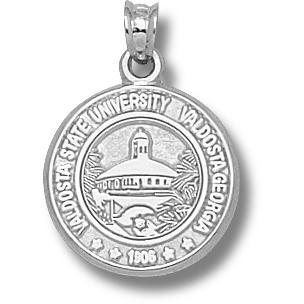 Sterling Silver 5/8in Valdosta State Seal Pendant
