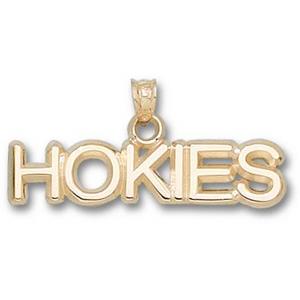 Virginia Tech Hokies 5/16in 14k Pendant
