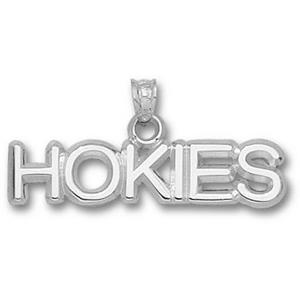 Virginia Tech Hokies 5/16in Sterling Silver Pendant