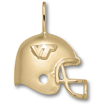 Virginia Tech Hokies 3/4in 10k Helmet Pendant