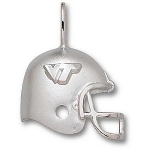 Virginia Tech Hokies 3/4in Sterling Silver Helmet Pendant