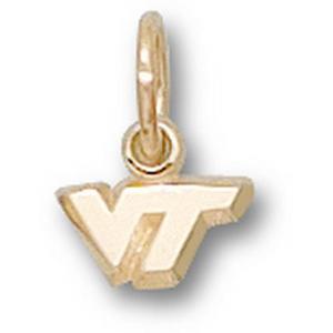 Virginia Tech Hokies 1/4in 10k VT Pendant