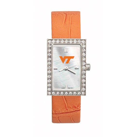 Virginia Tech Starlette Leather Watch