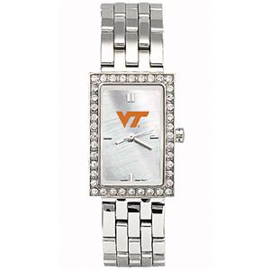 Virginia Tech Hokies Starlette Stainless Steel Watch
